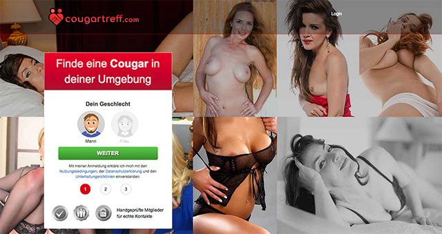 CougarTreff.com ist ein Fickportal für MILFs und Cougars